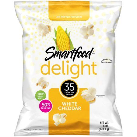 Smartfood Delight White Cheddar Popcorn 6.0 Ounce Plastic Bag