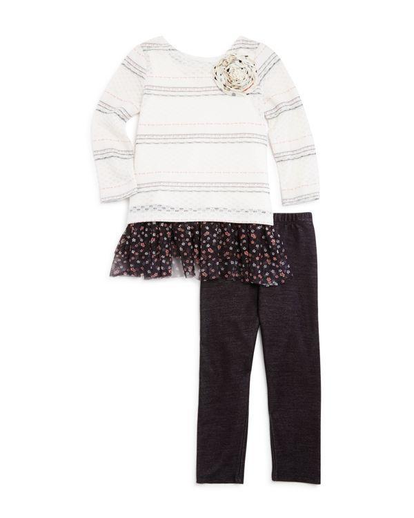 Pippa & Julie Girls' Sweater, Tank & Leggings Set - Sizes 2-6X