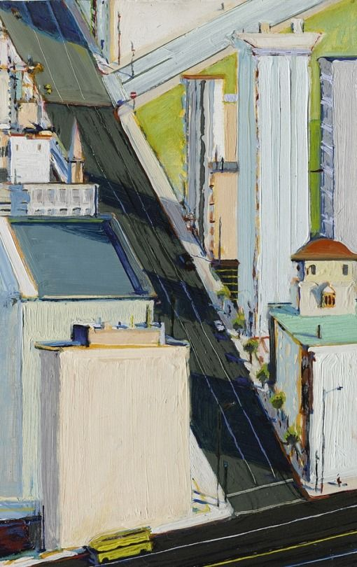 Wayne Thiebaud - Crossroads, 1978.