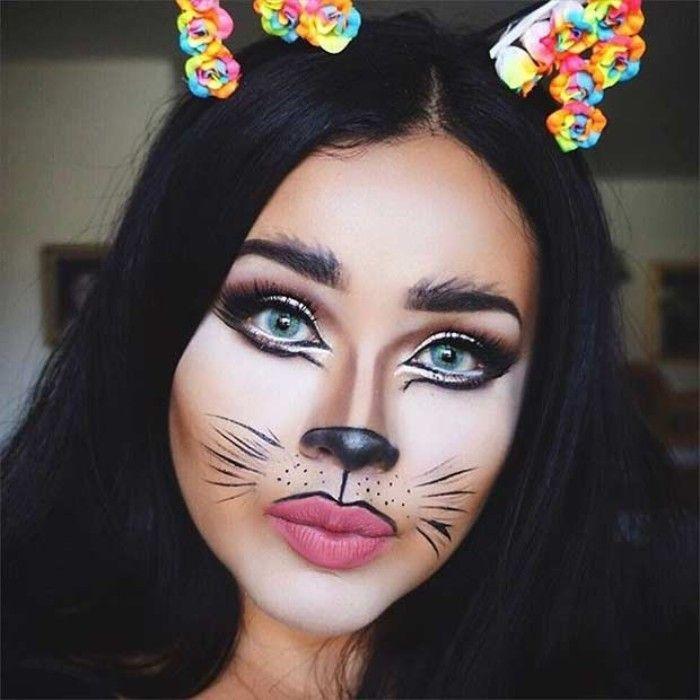 Halloween Schminke Katze.Halloween Face Make Up Like A Cat Nice Facial Makeup Ears On The Reviews In 2020 Halloween Gesicht Schminken Schminktipps Halloween Schminktipps