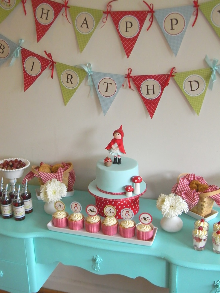 Little Red Riding Hood Party Table by Just call me Martha