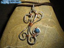 """Collana wire """"Agata blu"""""""