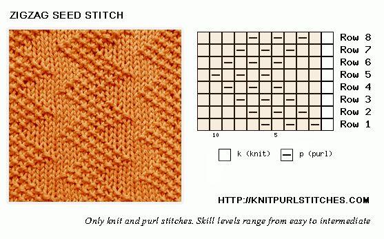 Zig Zag Stitch Loom Knitting : Best olika stickade motiv images on pinterest