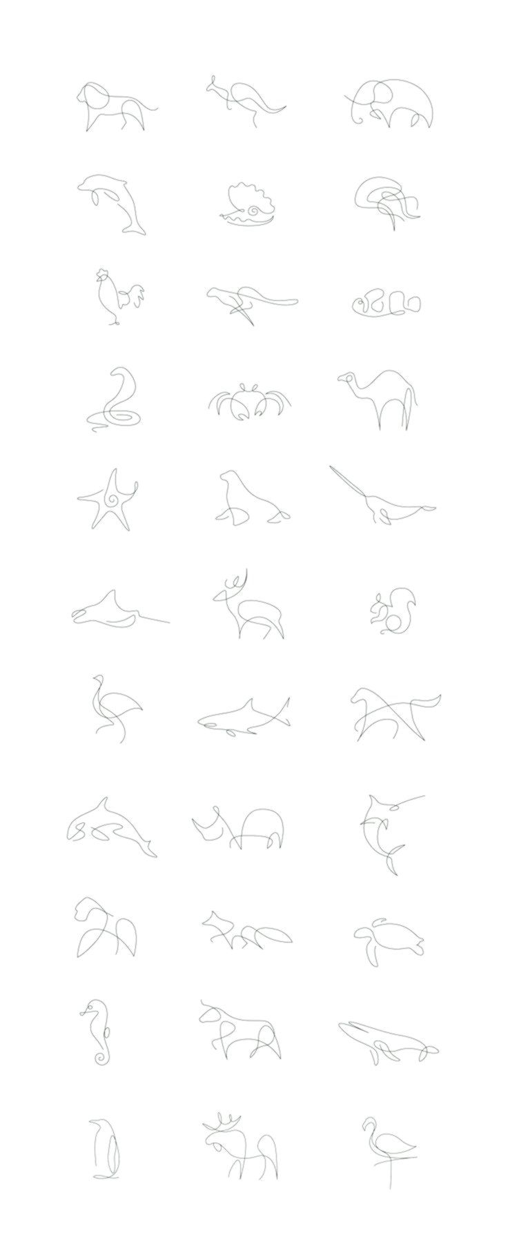 How to draw an animal with only one line – Steemit – #on #a #line #man #with # only