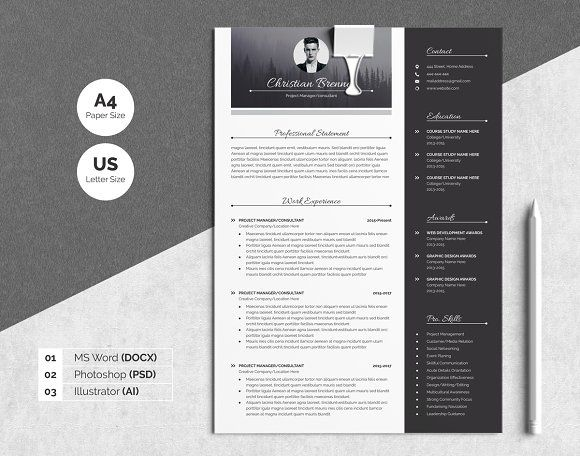 The 25+ best Modern resume template ideas on Pinterest Modern - pages resume template