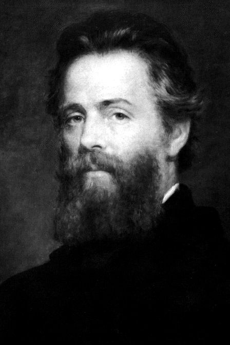 Herman Melville, 1870. Oil painting by Joseph Oriel Eaton, American novelist. Moby Dick, Bartleby the Scrivener, Typee...