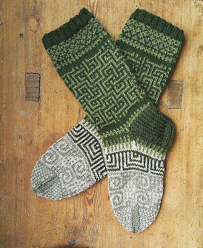 "Ravelry: Love Socks pattern by Sini Huupponen Aran / 10 ply (8 wpi) ? 23 stitches and 28 rows = 4"" US 6 - 4.0 mm"