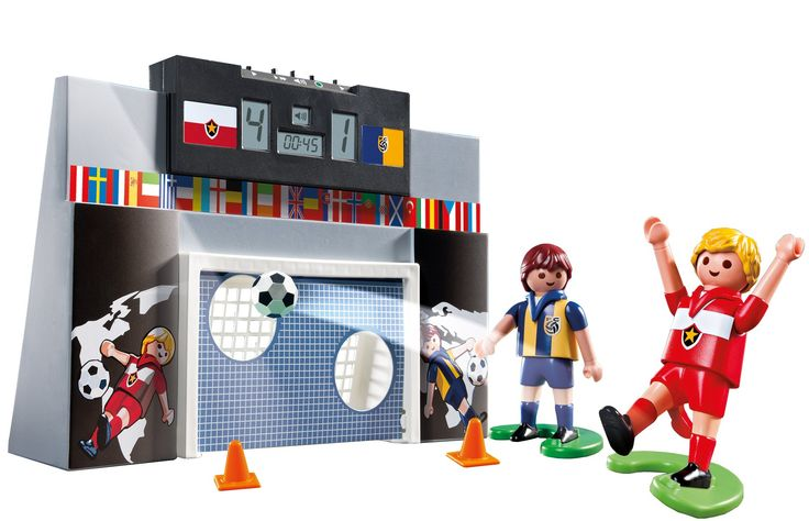 Amazon.com: PLAYMOBIL Soccer Shoot Out: Toys & Games
