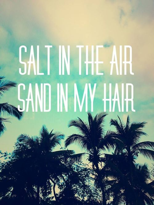 Summer motto to live by: Salt in the air, sand in my hair.