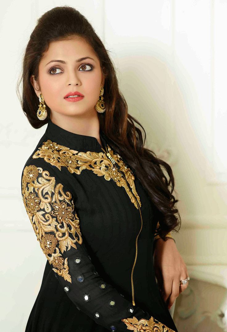Black Color Georgette Palazzo Anarkali Suit With Chiffon Dupatta Buy Now : http://bit.ly/1Ni3Lqa Price : Rs. Rs2,949.00/- Free Shipping in India #AnarkaliCollection #Salwarkameez