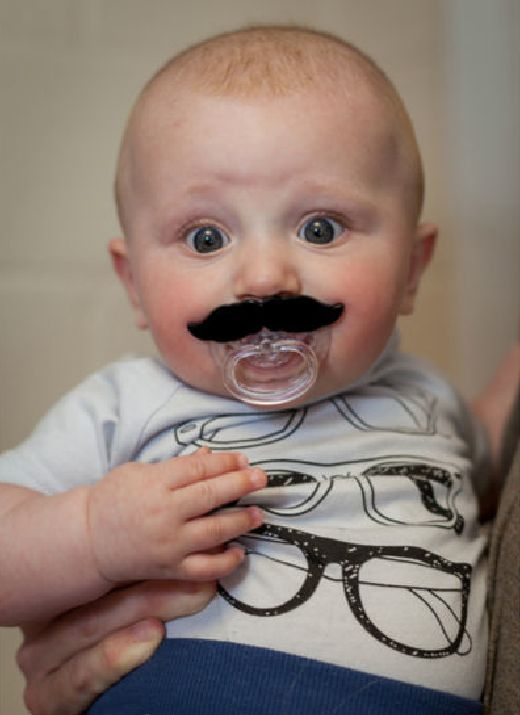 Nerdy Baby Gifts Uk : Best ideas about mustache pacifier on