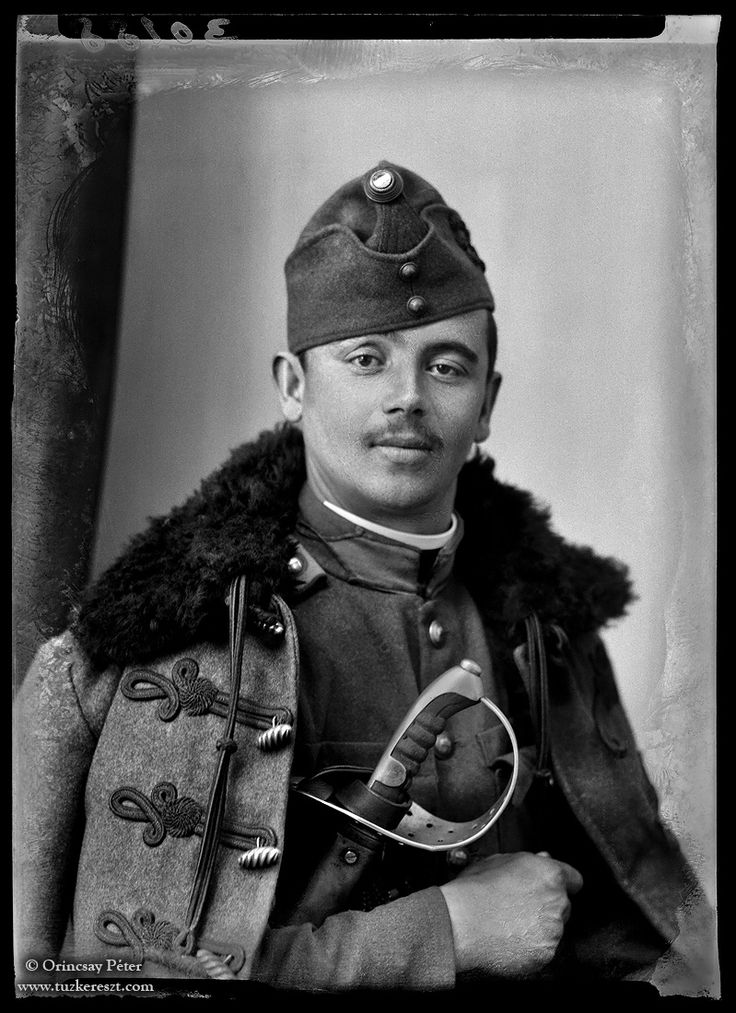 Studio photograph of a Hungarian Hussar Private.