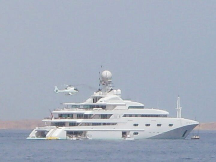 Bill Gates Yacht and Helicopter, Egypt Sharm El Shake