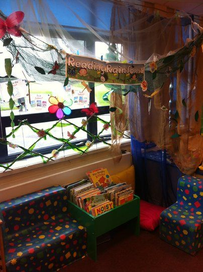 Reading Rainforest Display, class display, Book corner, book, books, reading, read, story, story time, Early Years (EYFS), KS1 & KS2 Primary Resources