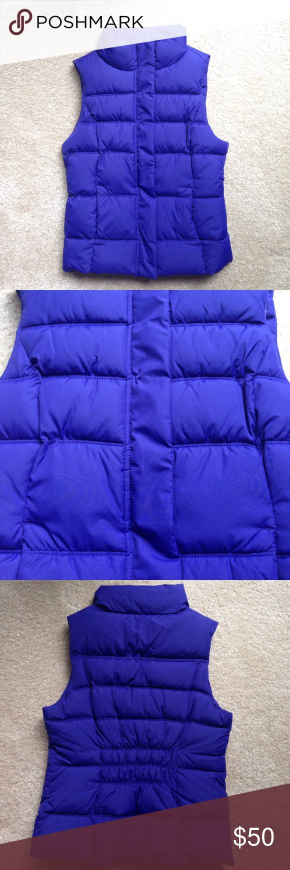 Blue vest Cobalt blue vest. Two pockets in the front. New with the tags! GAP Jackets & Coats Vests