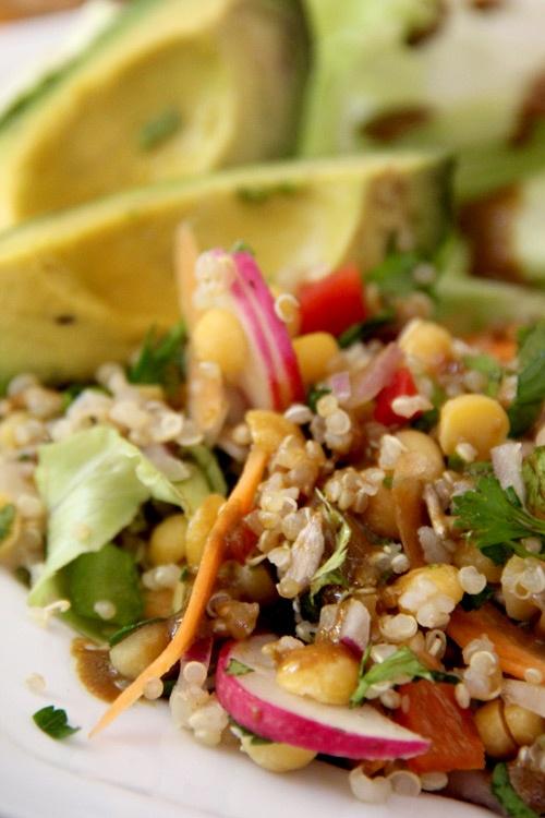 Vegetario » Ensalada de Garbanzos y Quínoa