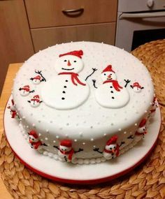 mini christmas cakes - Google Search