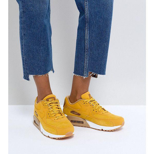 Nike Air Max 90 Mustard Suede Sneakers