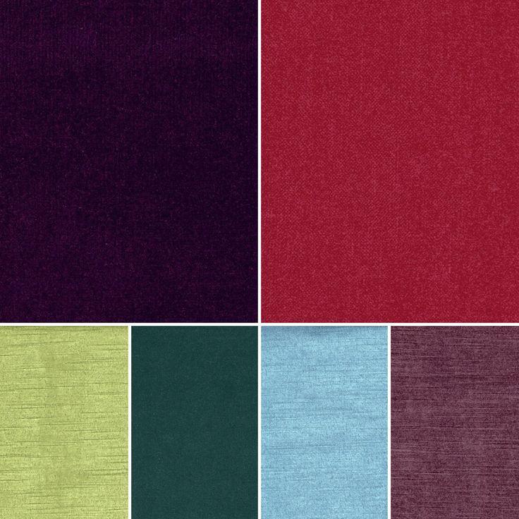 Opulent velvet fabrics for a distinguished interior design.