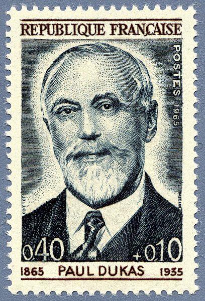 Zoom sur le timbre «Paul Dukas 1865-1935 »