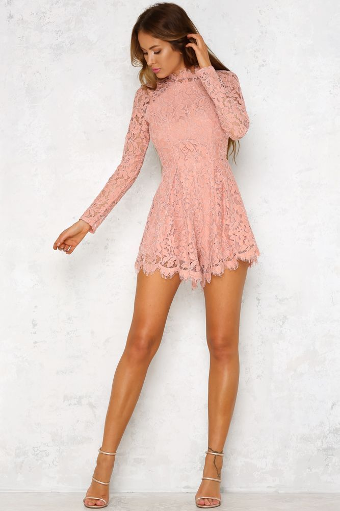 2ea6112dd3762 Sade Romper Blush | awesome clothes | Formal playsuit, Outfits, Lace  playsuit