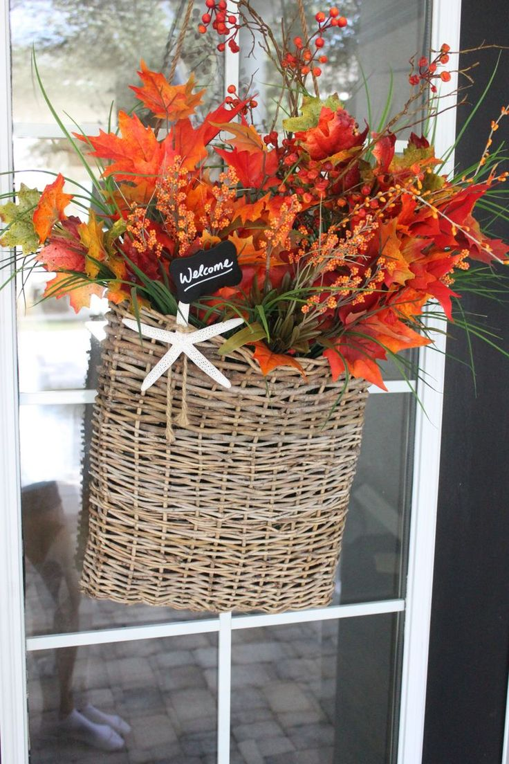 Loving this Autumn Basket filled with Fall Color silk flowers.