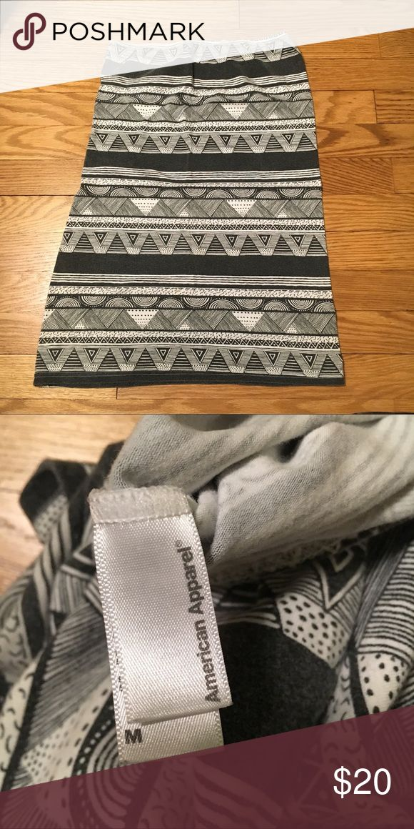 American Apparel Bodycon Skirt/top Size M Aztec Worn but in good condition. Classic American apparel Aztec print. I wore as a skirt but can also be a dress if petite - both pictured, but I am 5'10 so as a dress it's pretty risky lol American Apparel Skirts Pencil