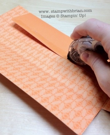 Tutorial - how to make a standard business envelope that opens on the end with Designer Series Paper, Stampin' Up!
