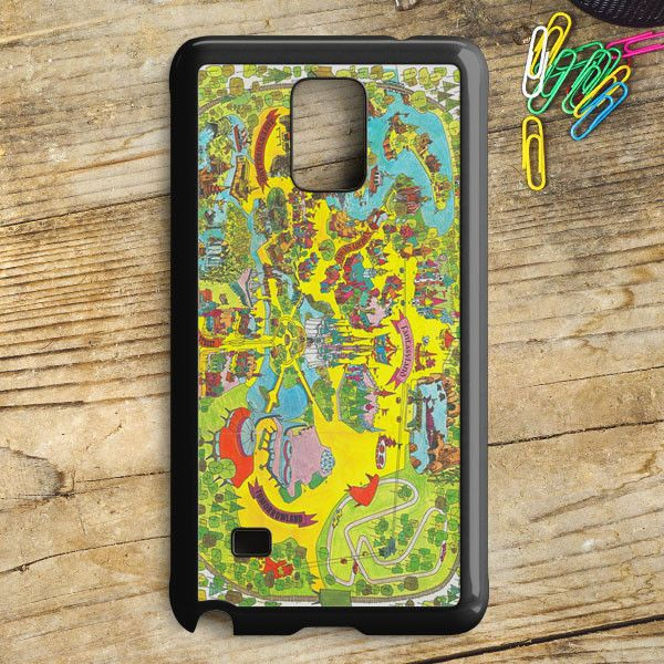 Vintage Walt Disney World Map Fantasyland 1971 Samsung Galaxy Note 5 Case | armeyla.com