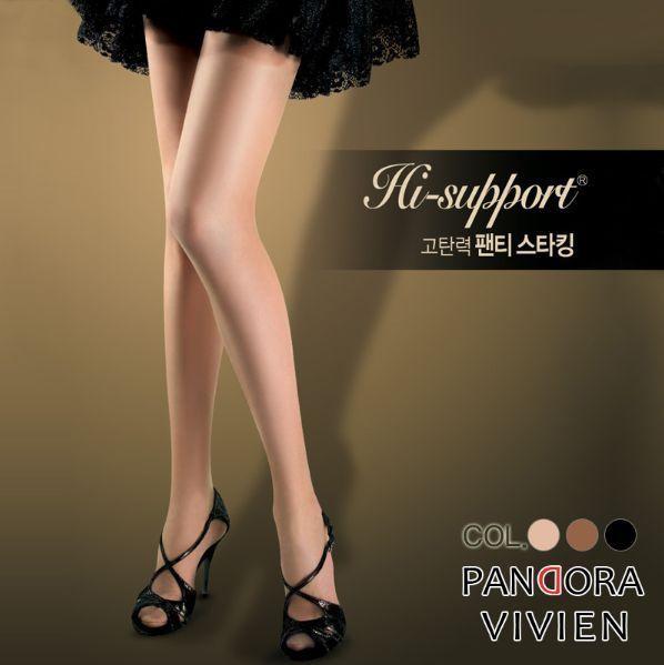 VIVIEN PANDORA Hi-support Panty Stocking 3Colors(Apricot, Coffee, Black each 1) #VIVIEN #Pantyhose