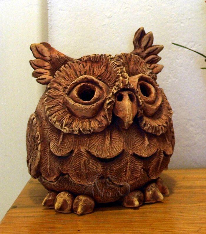 stíno-lampa sova - keramika