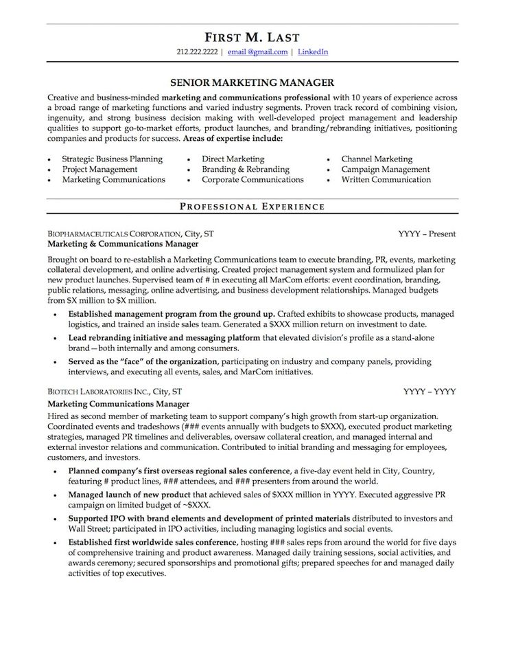Mid career resume sample professional resume examples