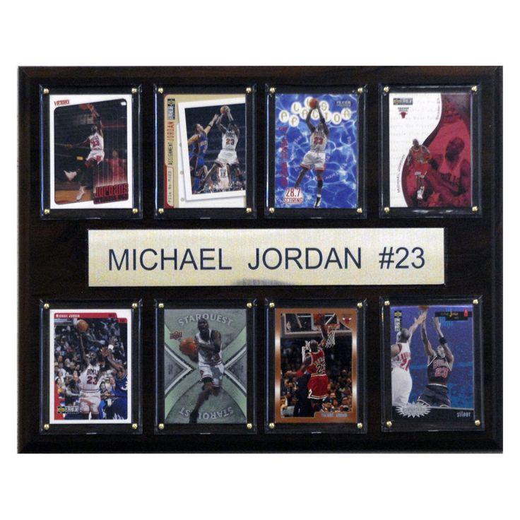 NBA 12 x 15 in. Michael Jordan Chicago Bulls 8 Card Plaque - 1215JORDAN8C