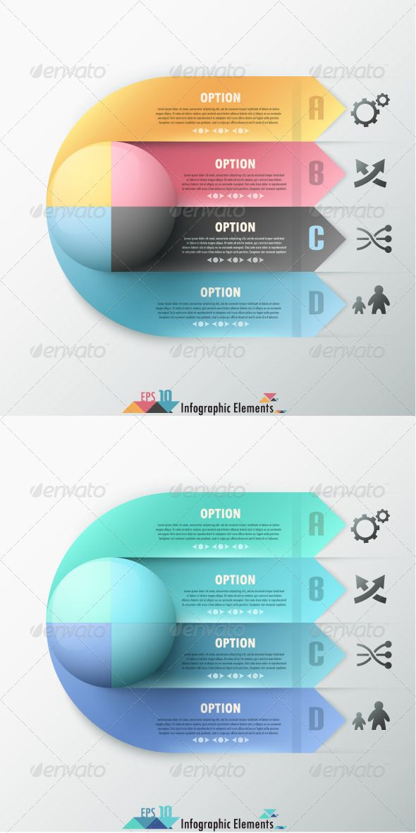 Modern Infographic Options Banner (Two Versions) Template #infographies #Infografik Download: http://graphicriver.net/item/modern-infographic-options-banner-two-versions/7186758?ref=ksioks