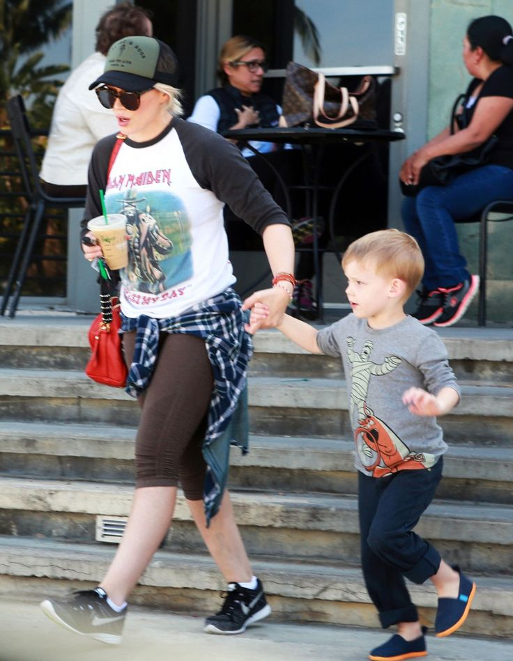 Luca Comrie Photos Photos - Hilary Duff Spends Time Out with Her ...