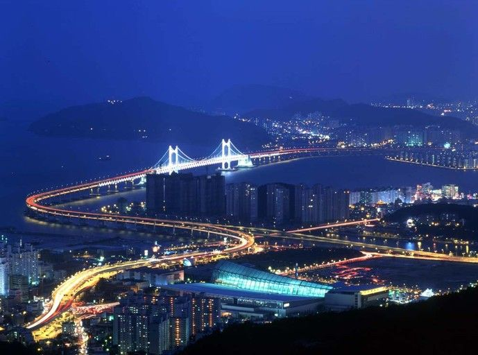 Night View of Busan in Korea