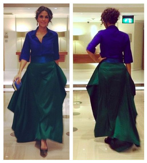 Neha Dhupia in payalkhandwala Shirt and Silk Skirt