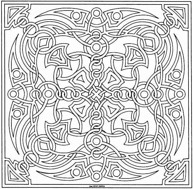 Coloriage mandala pour adulte imprimer coloriages pinterest mandalas - Mandala adulte ...