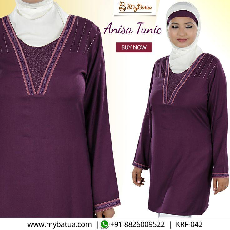 Looking for gorgeous formal wear? Here's Anisa A-line tunic with round neck with velvet lace to enlighten your look.  #anisatunic #designertunic #dailywear #islamictunic #muslimtunic #formaltunic #tunic #embroidertunic #fashiontunic #muslimwear #style #clothing #picofday #summercollection #mybinsta #sisterhood #modestfashion #womenclothing #ootd #yaz #islamicclothing #womendress #dress #muslimwear #instafashion #hijabfashion #modesty #fallstyle
