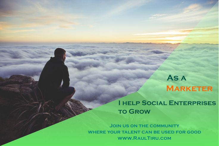 As a Marketer, I help Social Enterprises to grow. Join us on the community where your talent can be used for good http://www.raultiru.com  #Marketing   #growthhacker   #digitalmarketing   #onlinemarketing