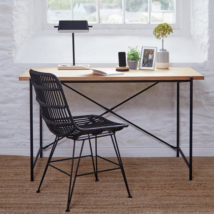Create the perfect work space and get productive with our Coast Oak Top writing desk.