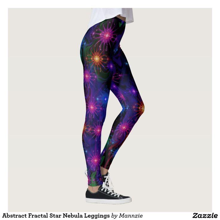 Abstract Fractal Star Nebula Leggings