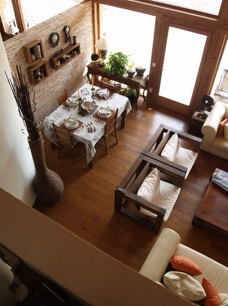 I love the cozy feel this has love it pinterest for Decoracion hogar rustico