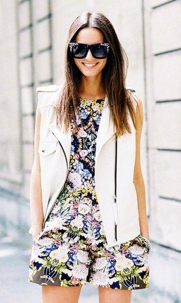 Look Primavera: Macaquinho Floral:
