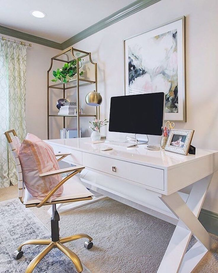 Home Desk Design Ideas: #ZGallerieMoment: @honeywerehome Updated Her Home Office