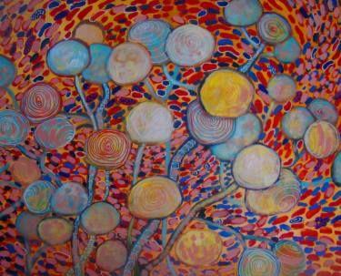 "Saatchi Art Artist Agata Padol; Painting, ""Lunaria"" #art"