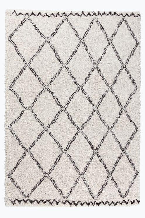 Ellos Home Ryatæppe Tanger 200x290 cm i farverne Hvidgrå/grå, Offwhite/mørkebrun, Rosa under Bolig - Luv- & ryatæpper - Ellos