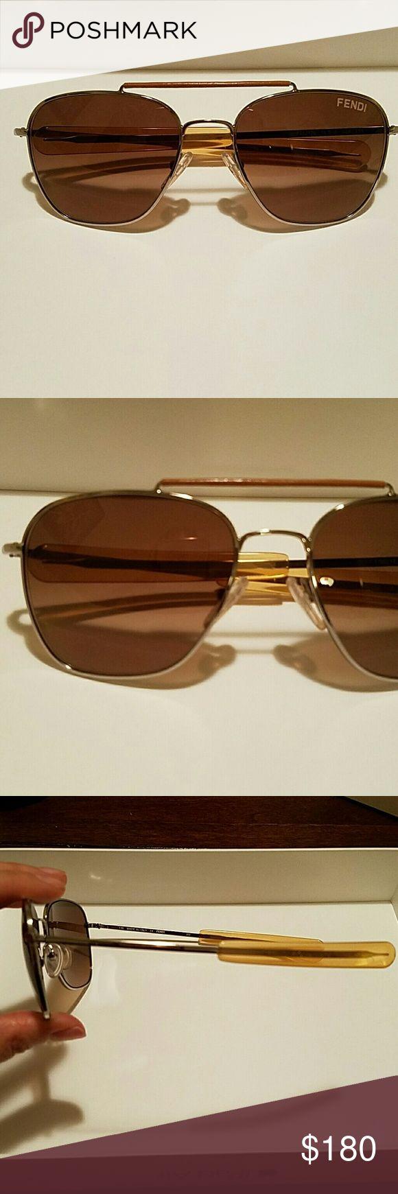 Fendi Aviators Fendi Aviators. Brown lenses. Perfect condition, no scratches. Never used. Fendi Accessories Sunglasses