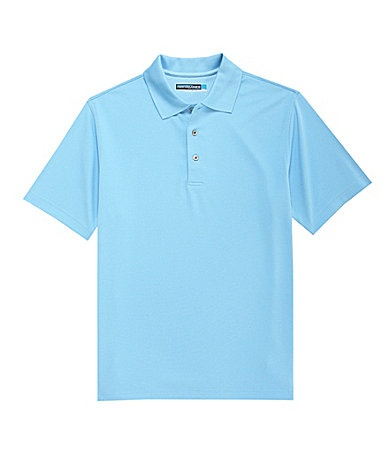 Roundtree And Yorke Performance Solid Textured Polo Shirt