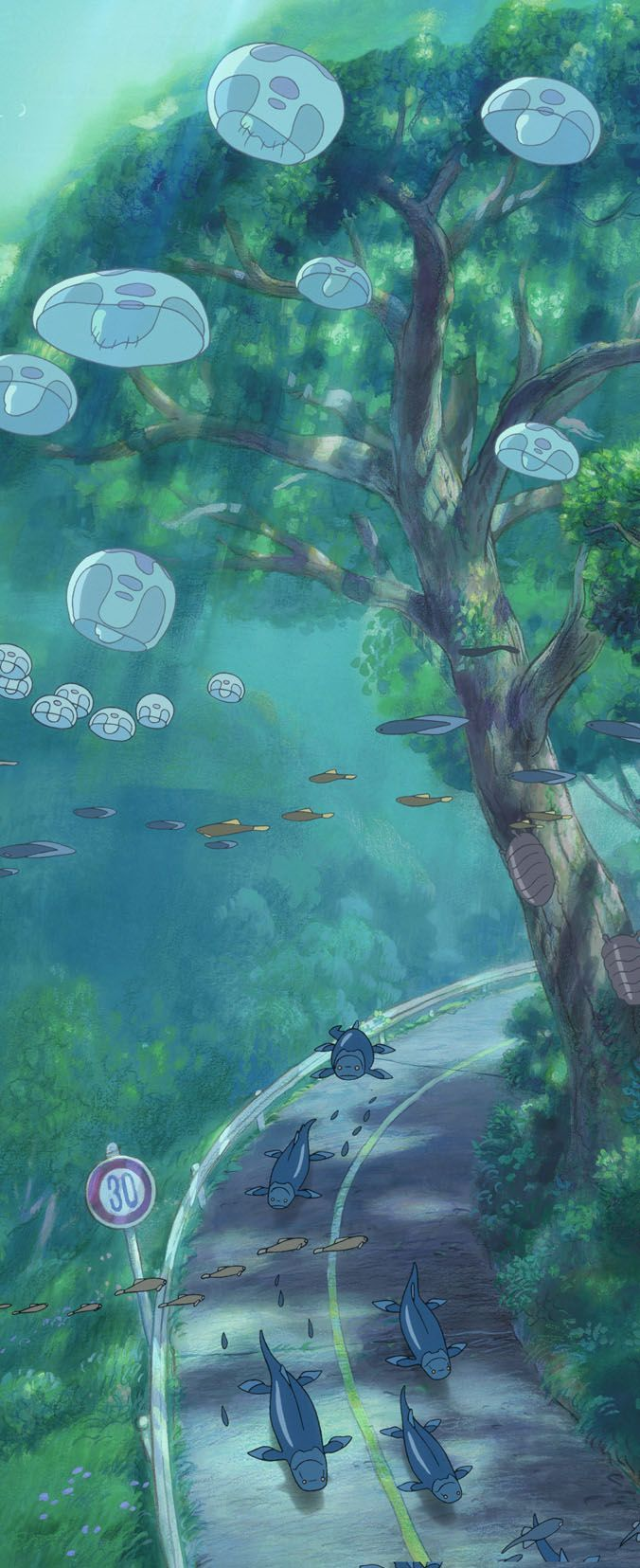 Ponyo...... This is one of my favorite backgrounds